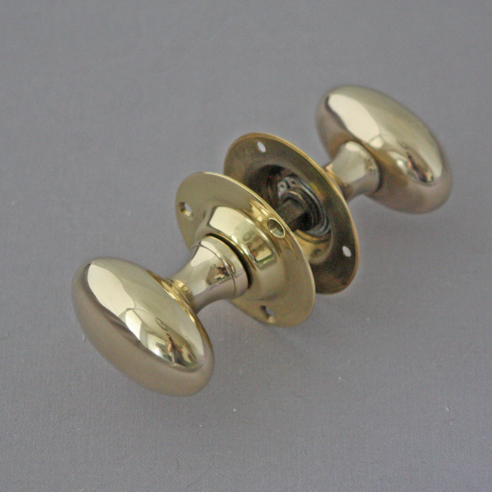 Reclaimed Brass Oval Door Handles