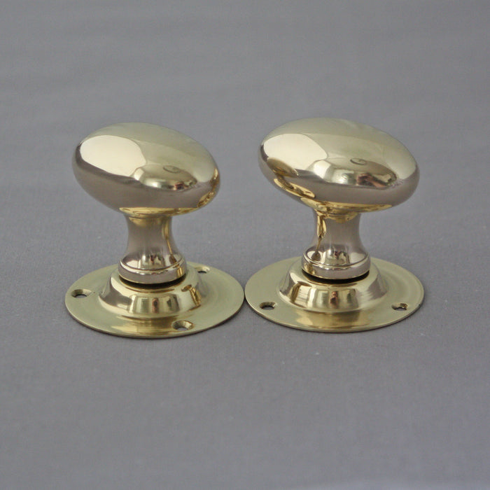 Reclaimed Brass Oval Knobs