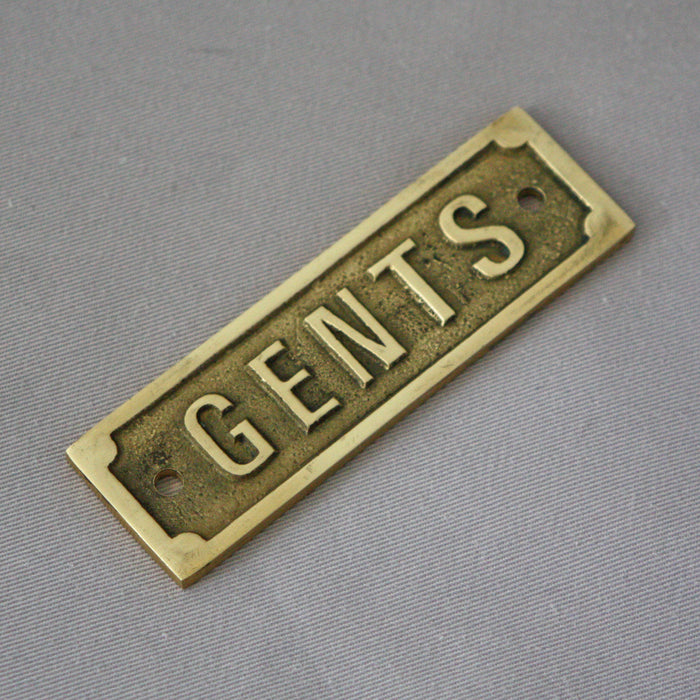 GENTS Brass Sign