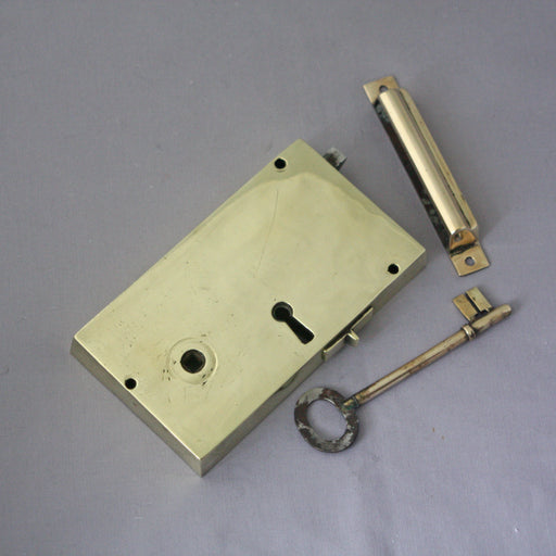 Georgian Brass Rim Lock (RH)
