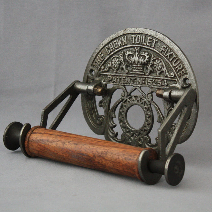 Antique Black Iron Toilet Roll Holder