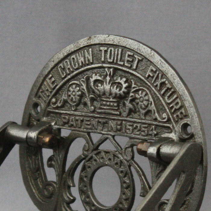 Antique Crown Black Iron Toilet Roll Holder