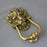 Large Brass Lion Head Door Knocker