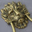 Large No:10 Brass Lion Head Door Knocker