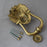 Large Brass Lion Head Front Door Knocker