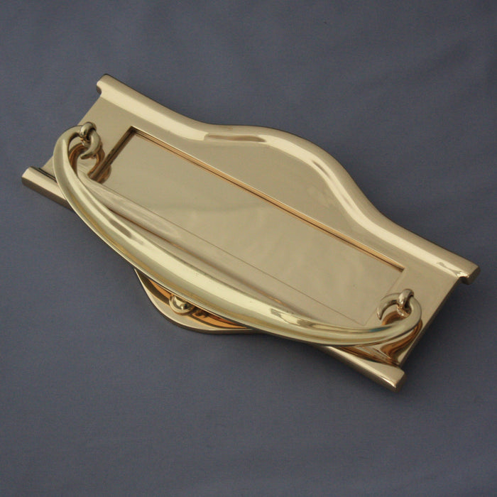 Large Brass Art Nouveau Letterbox
