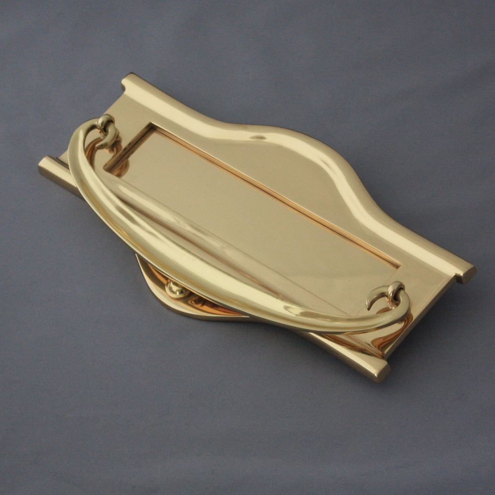 Large Art Nouveau Brass Letterbox