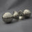 Nickel Large Beehive Door Handles