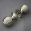 Large Nickel Beehive Door knobs