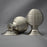 Period Nickel Beehive Large Door Knobs