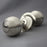 Nickel Beehive Large Door Knobs