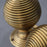 Reeded brass knobs