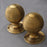 Victorian brass beehive door knobs