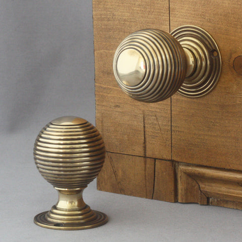 Large Brass Beehive Door Knobs Architectural Decor