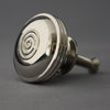 Large Georgian Nickel Bloxwich Cabinet Knob