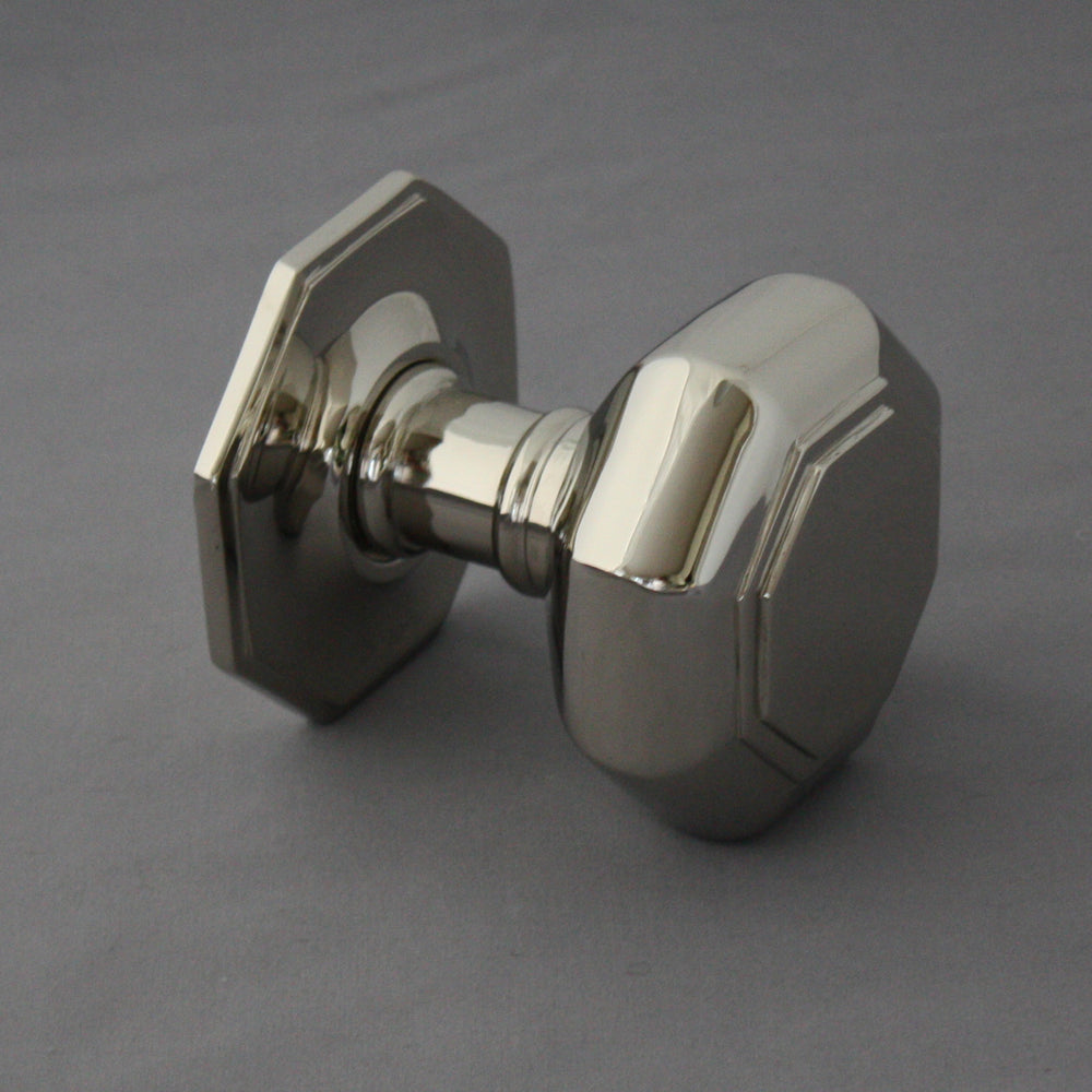 Large Nickel Octagonal Front Door Pull