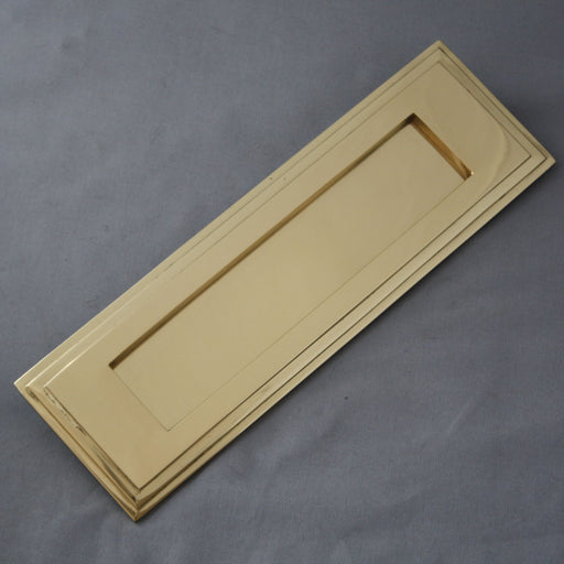 Art Deco Brass Letterbox