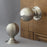 Large Nickel Beehive Door Handles