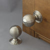 Nickel Large Beehive Door Knobs