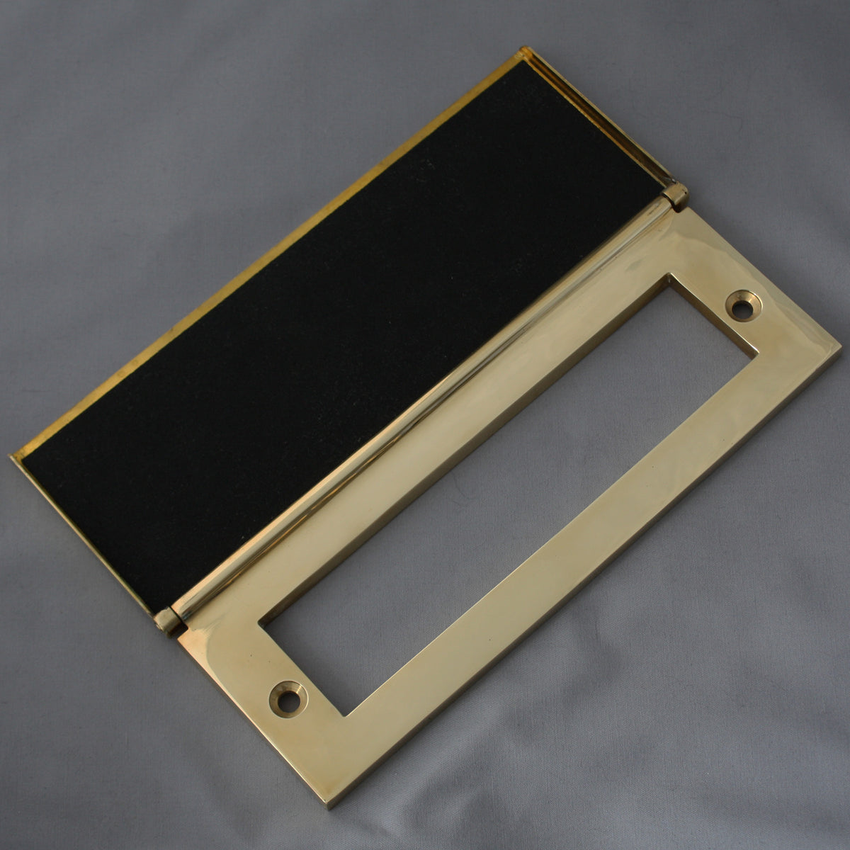 Traditional Solid Brass Letter Plate Letterbox With Clapper Pull Knocker