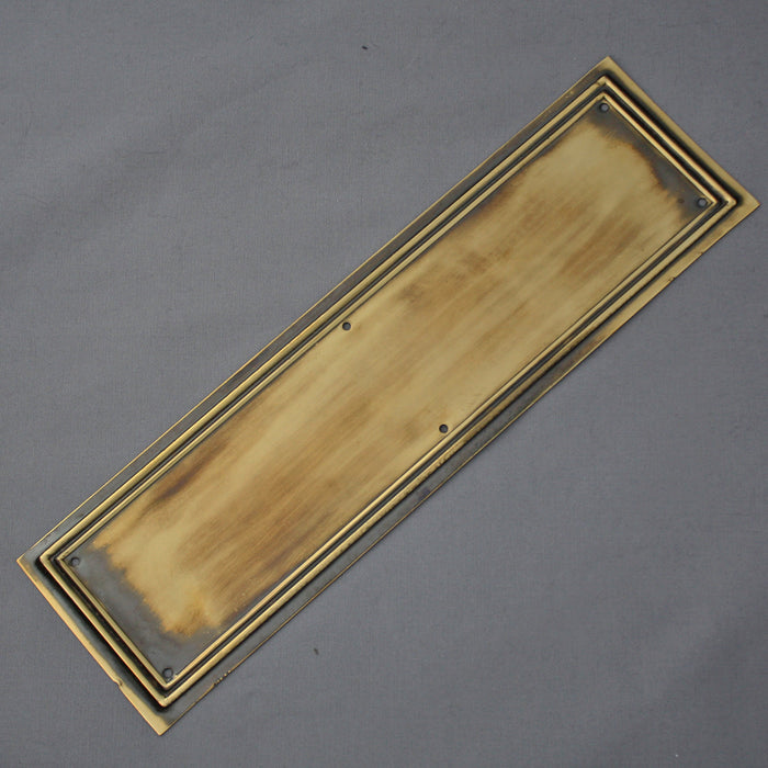Victorian Brass Lincoln Finger Plate