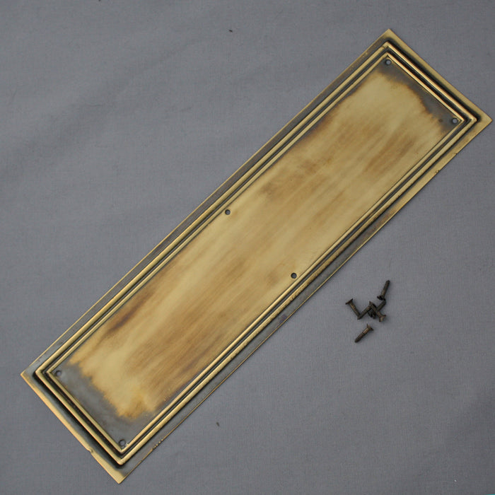Brass Lincoln Finger or Push Plate