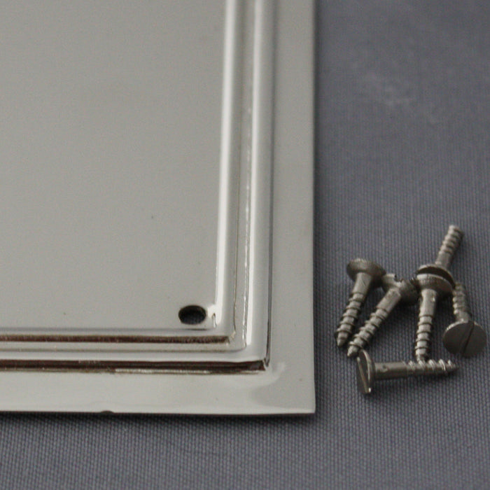 Nickel Lincoln Door Plate