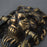 Brass Victorian Lions Head Set