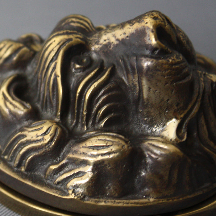 Solid Brass Lions Head Yale Cover