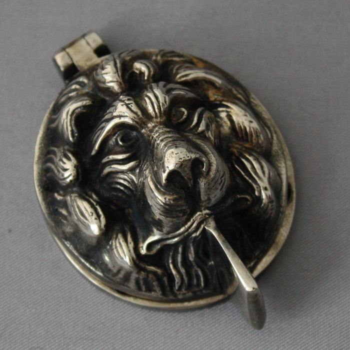 Nickel Lions Head Yale Lock Cover