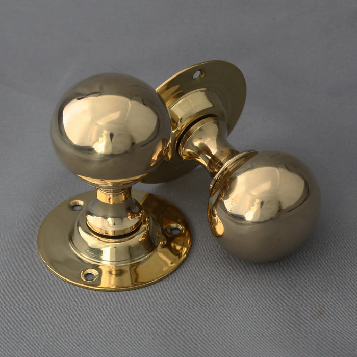 Brass Edwardian Ball Door Handles