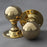 Edwardian Brass Ball Door Knobs