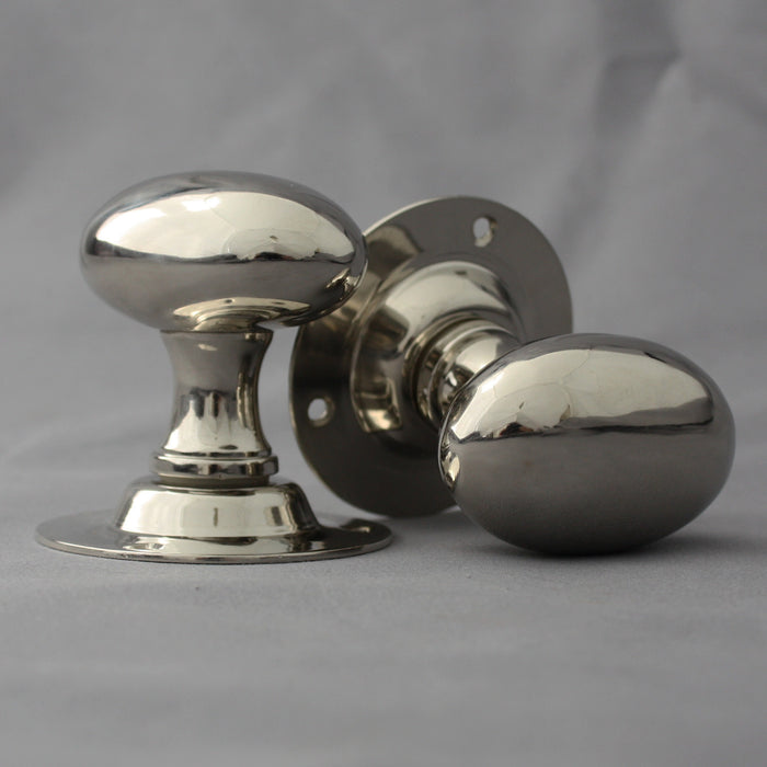 Nickel Oval Door Handles