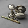 Period Nickel Edwardian Oval Door Knobs