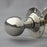 Nickel Edwardian Oval Door Knobs