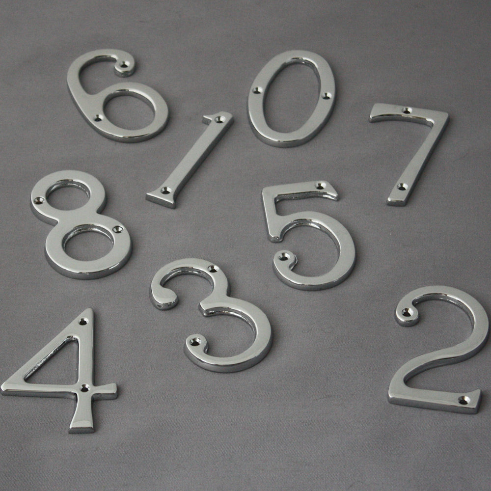 Traditional Chrome Front Door Numerals