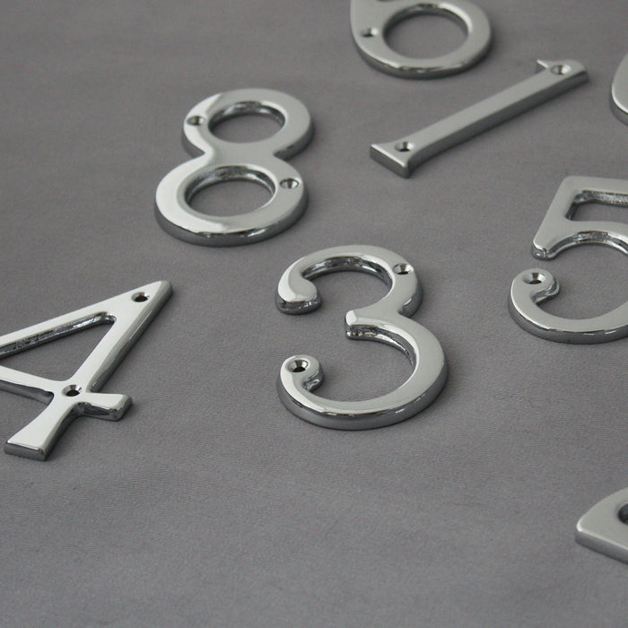 Traditional Chrome Front Door Numbers