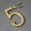 Traditional Brass Front Gate Numerals