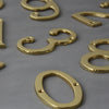 Traditional Brass Front Door Numbers