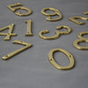 Brass Traditional Front Door Numerals