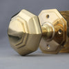 Georgian Brass Octagonal Door Handles