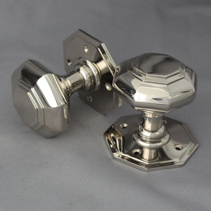 Nickel Octagonal Georgian Door Knobs