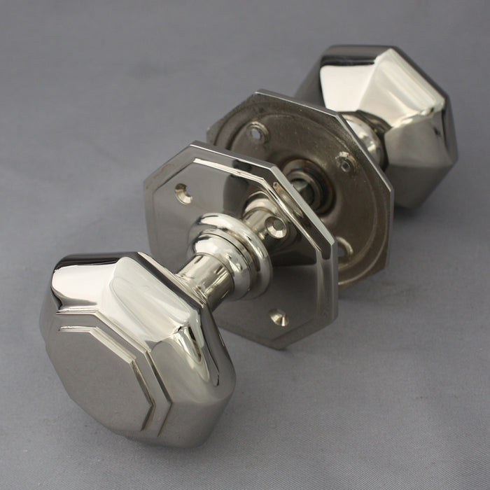 Georgian Nickel Octagonal Door Handles