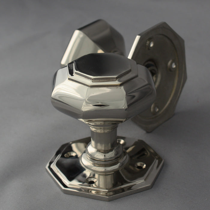 Nickel Georgian Octagonal Door Handles