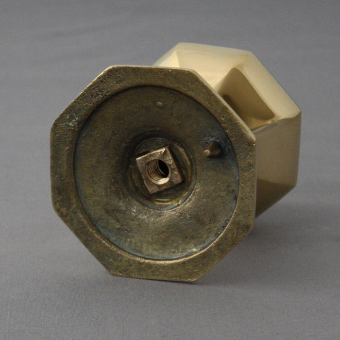 Octagonal Brass Front Door Centre Pull