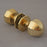 Period Octagonal Brass Door Knobs