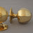 Period Octagonal Brass Door Handles