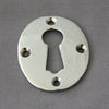 Victorian Large Chrome Oval Escutcheon