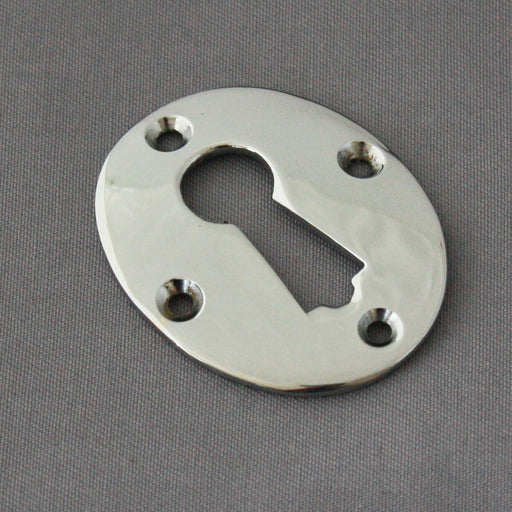 Large Chrome Oval Escutcheon