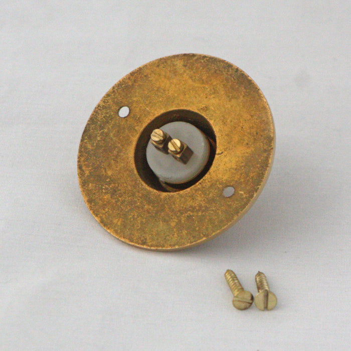 PUSH Brass Front Door Bell